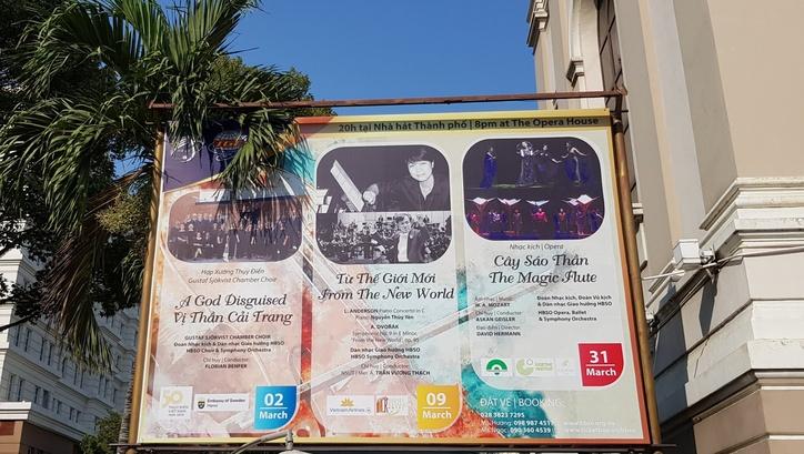 Affischering Saigonoperan