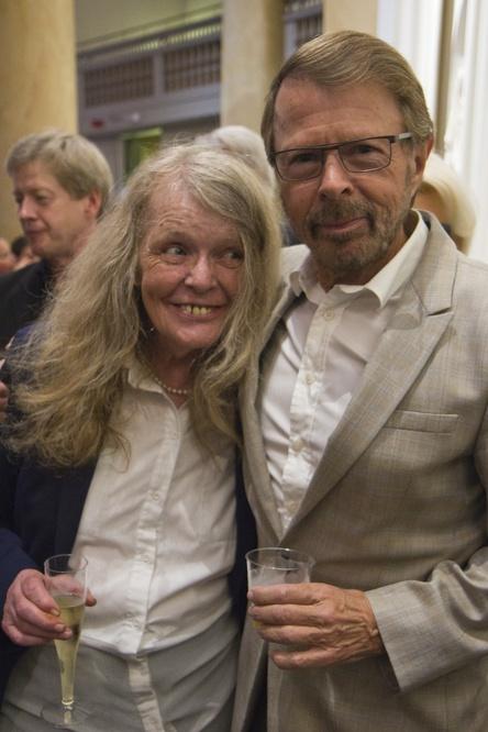 Textförfattarna Kristina Lugn och Björn Ulvaeus njöt av konsert och efterföljande lanseringsmingel.